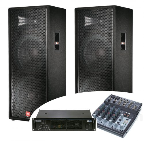 Pa Systems rental, PA system, loudspeakers, boxes, PA, sound system, complete system JBL, pato system, music system, amplifier, mixing console, microphone rental