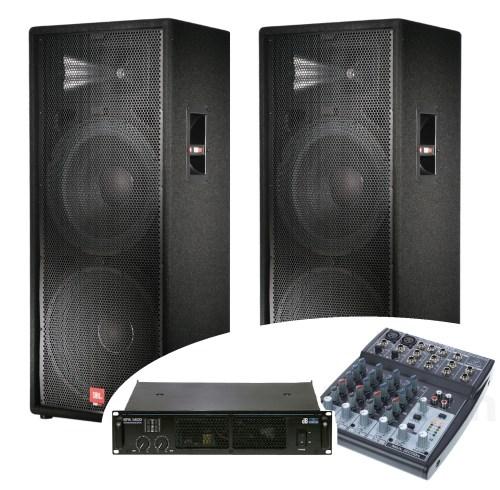 Lyd udlejning, Pa Systems leje, PA system, højttalere, kasser, PA, lydsystem, komplet system JBL, pato system, musiksystem, forstærker, mixerpult, mikrofon leje