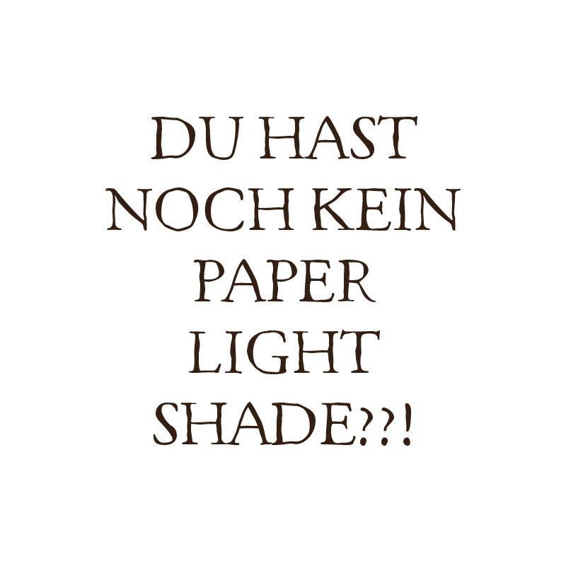 Du hast noch kein Paper Light Shade?