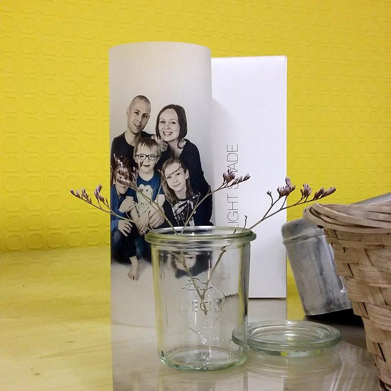 Paper Light Shade, bedruckt mit Familienfoto