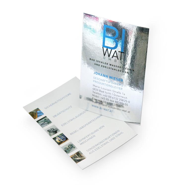 Visitenkarte für BIWAT GmbH