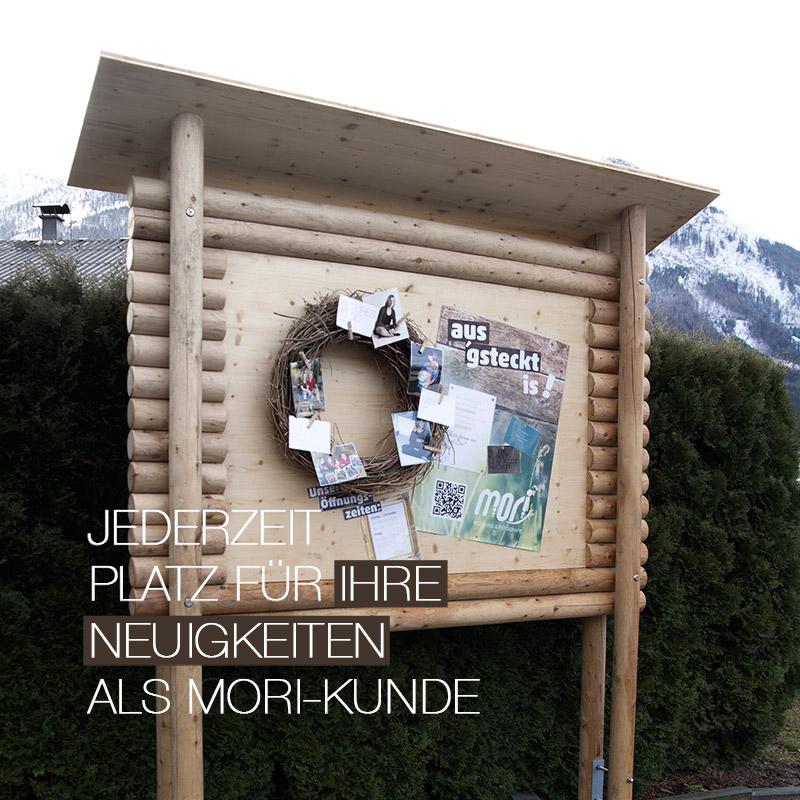 Jederzeit Platz | MORI-Anschlag-/Infotafel in Aigen-Voglhub/Bad Ischl