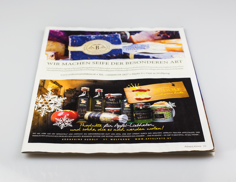 Einschaltung/Inserat - design by MORI Werbung & Fotografie