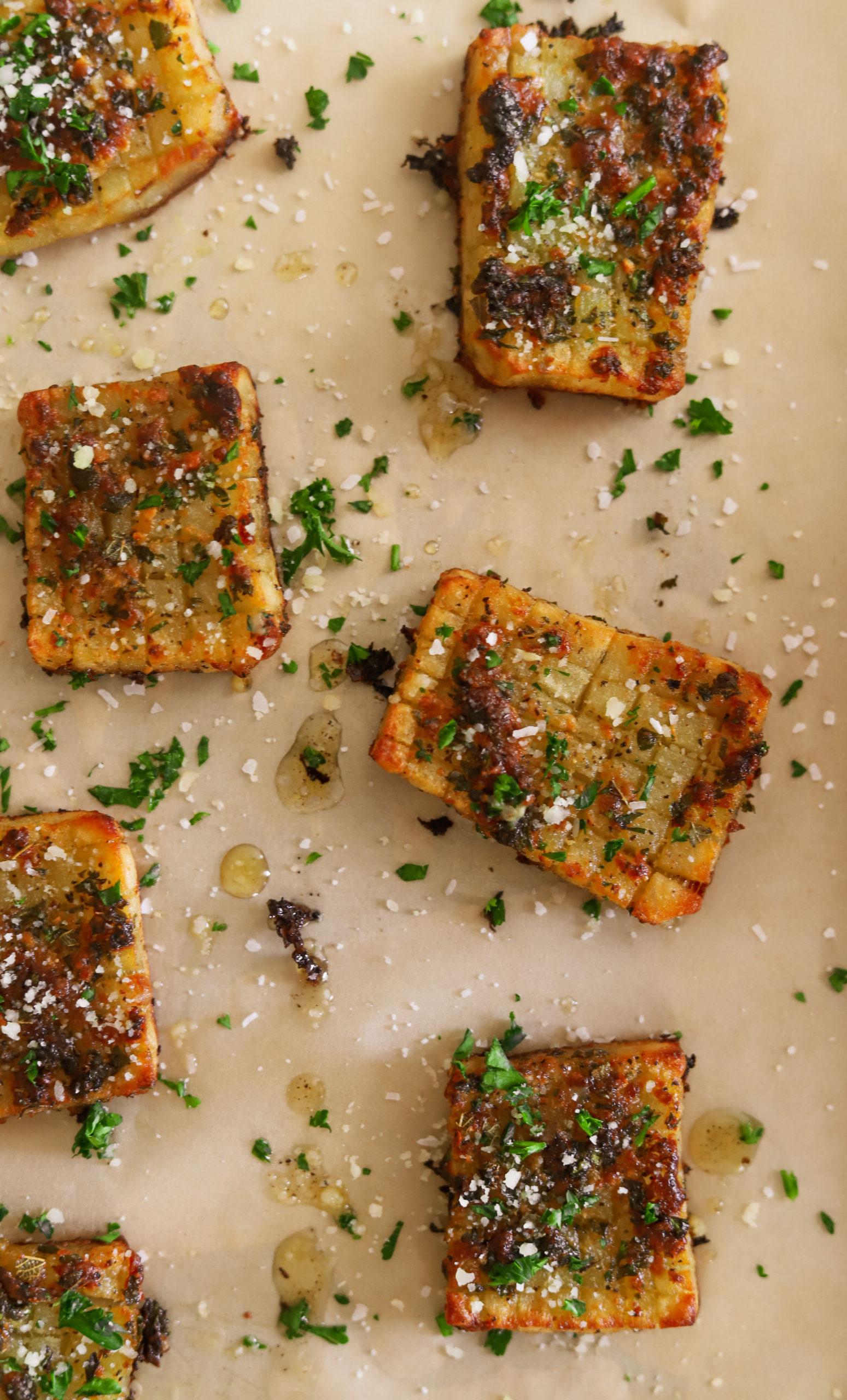Hasselback Waffle-Cut Potatoes