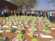 Distribution de denrées déplacés