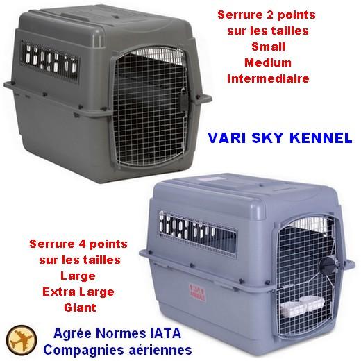 Cage de transport Vari Sky Kennel pour avion