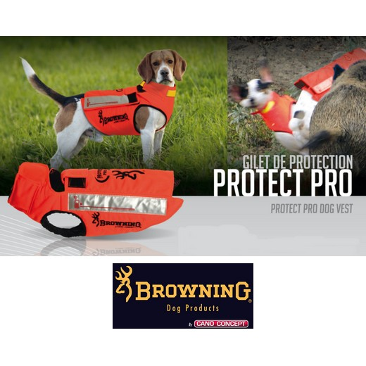 Gilet protection pour chiens en Kevlar Orange - PROTECT PRO - Cano-Concept