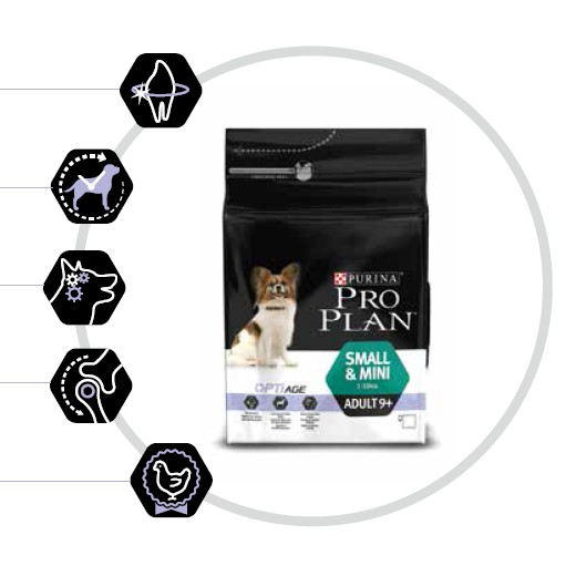 Croquettes chien : Pro Plan Small & Mini Adult 9+
