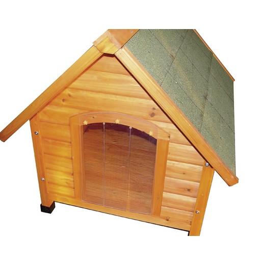 Battant souple pour niche chiens en bois NATURIA