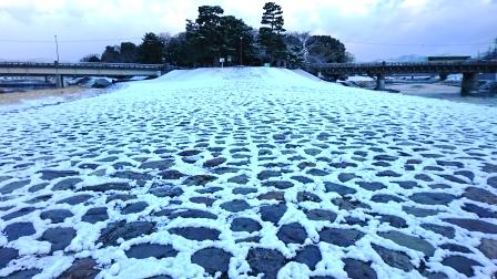 2016年 出町柳デルタ 雪景色