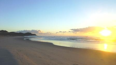 Sun raise at Byron Bay Australia
