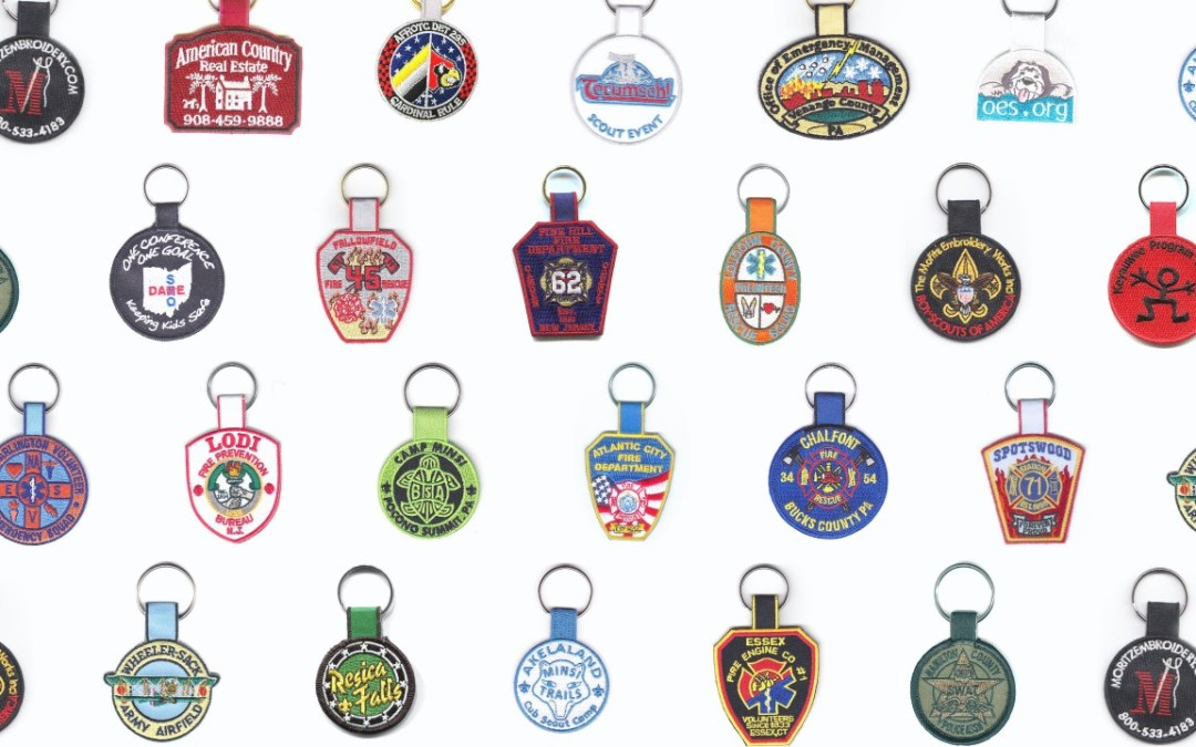 Custom Embroidered Key Fobs