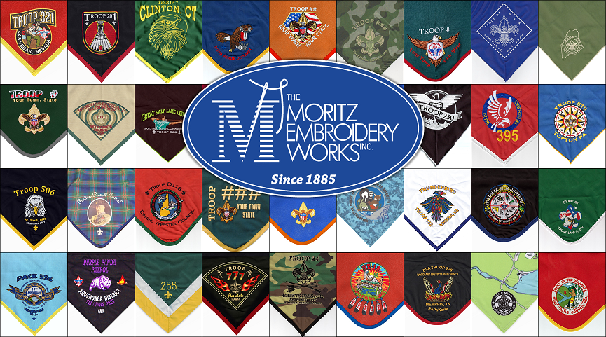Custom Neckerchiefs from The Moritz Embroidery Works