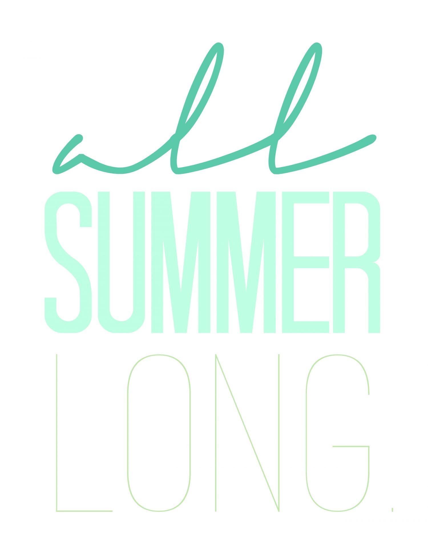 Free Printables Summer Wall Art
