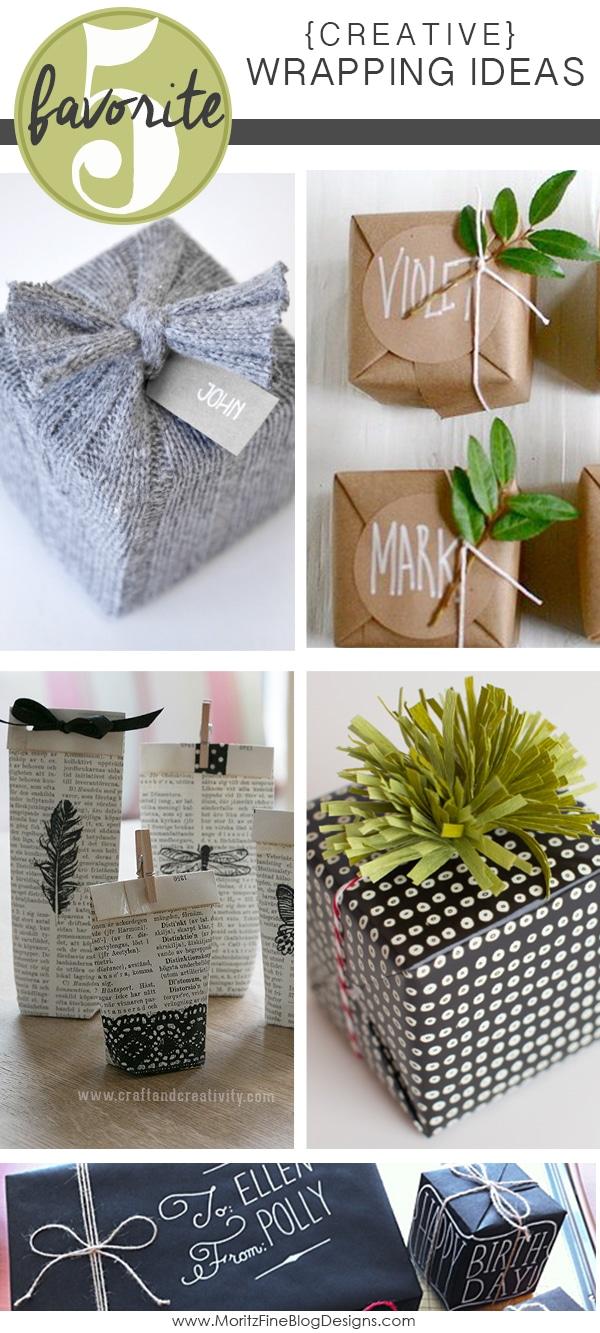 Easy Creative Gift Wrap Ideas Friday Favorite 5 Moritz