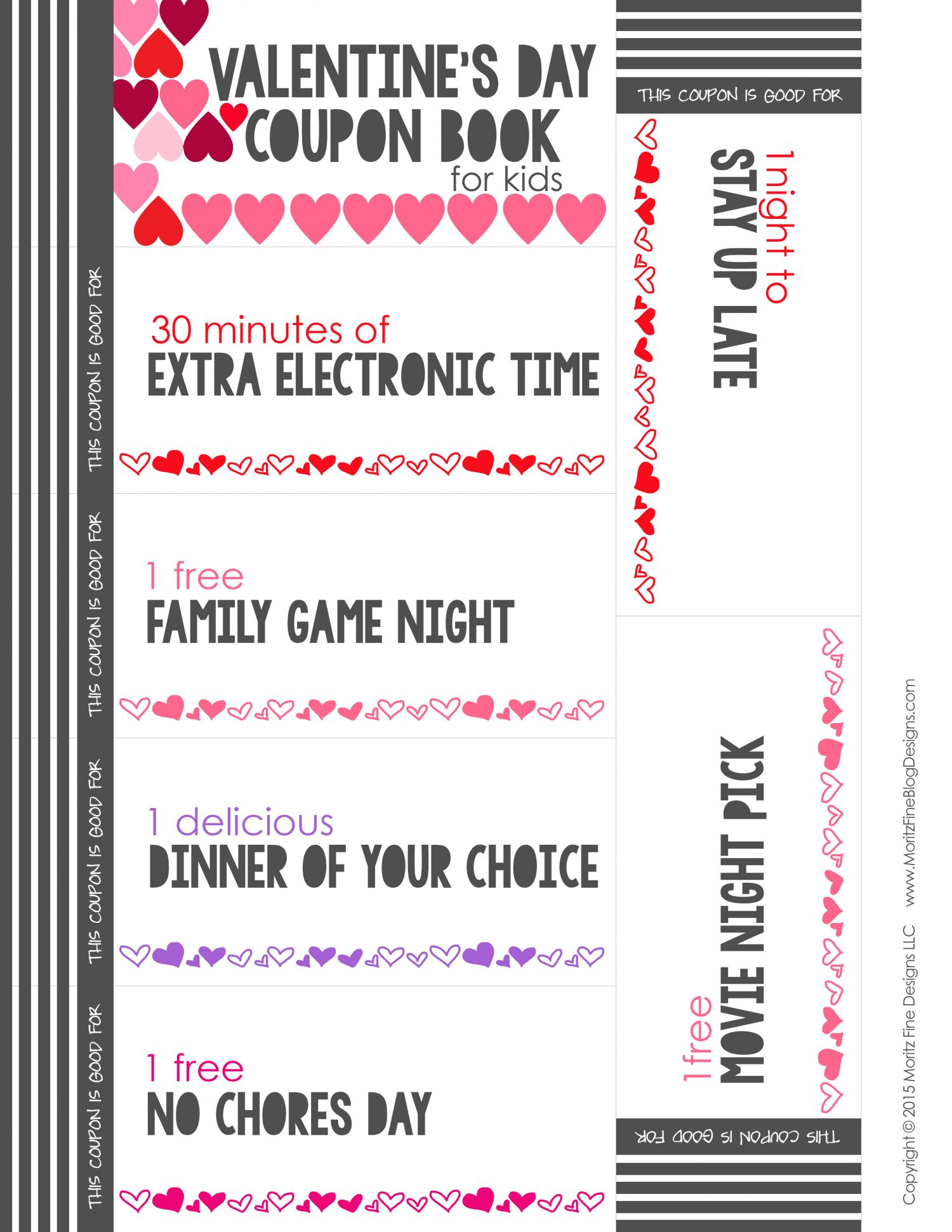 Valentines Day Coupon Book For Kids Free Printable