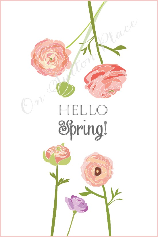 Hello Spring Printables Free Printables Included
