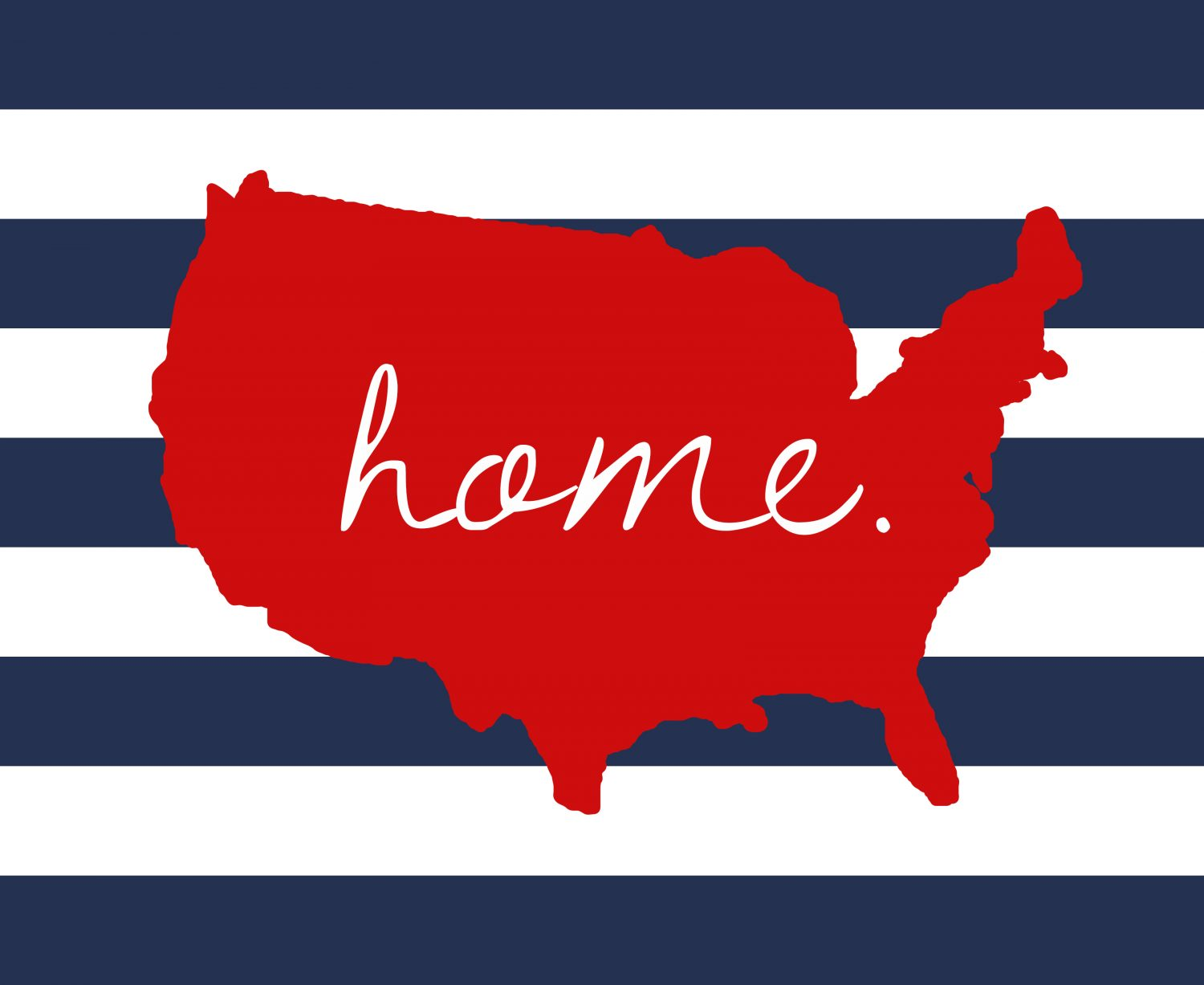 U S Home 4th Of July Printable