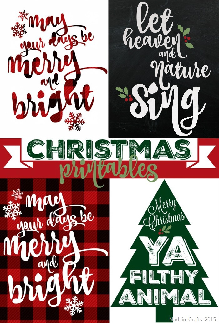 Christmas Home Printables Free Printables Included