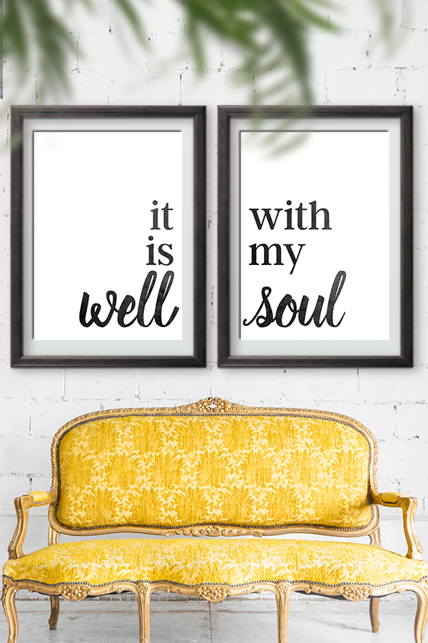It Is Well With My Soul Home Decor Sign | Free Printable on Home Wall Decor Signs id=56641