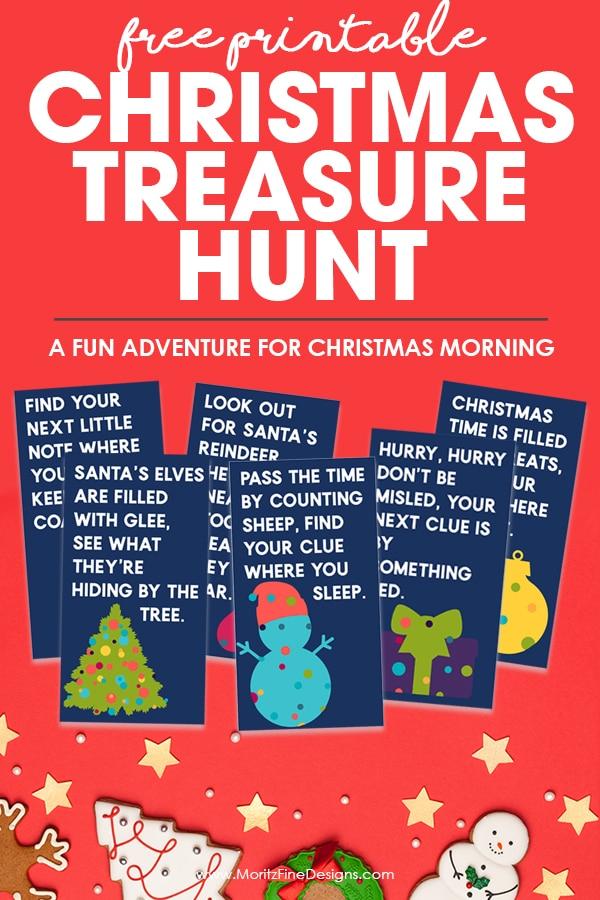 Free Printable Christmas Treasure Hunt Fun Activity For Kids