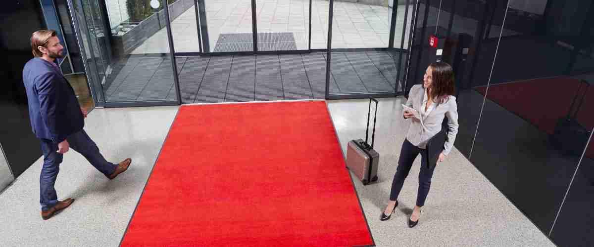 Portifera Access Mono by an office entrance door