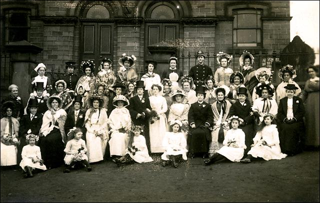 Old English Mock Wedding at the Zion Chapel, Drighlington