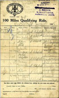 Notes on the 100 mile qualifying ride