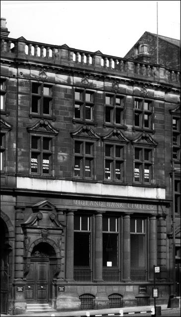 The front of Midland Bank, Queen St., Morley