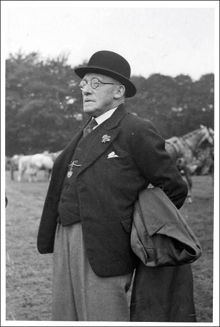 Norrison Peel as an older man with horses