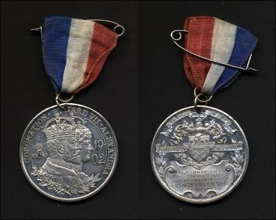 Medal given to Morley schoolchildren to mark the coronation of King Edward VII and Queen Alexandra