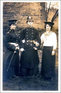 Three people in fancy dress