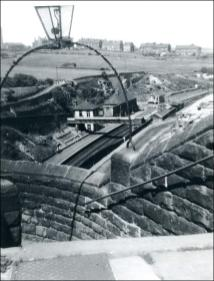 View of Morley Low Station and Daisy Hill