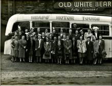 Coach trip from The Old White Bear, Tingley with Heap's Motor Tours