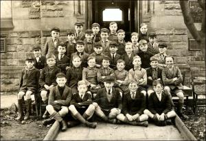 Group photo at Bridge Street School, Morley