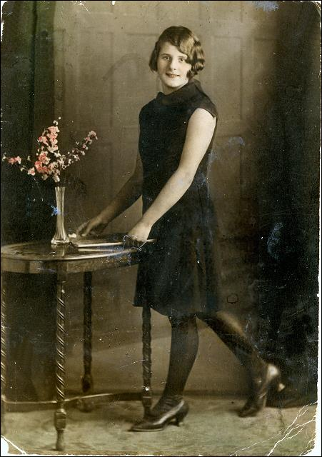 Studio portrait of Jessie Greenough