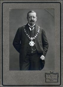 Formal portrait of William Law Ingle as Mayor of Morley Borough