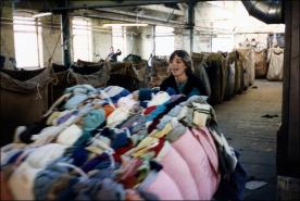 Janet Cottom pushes a lot of sorted rags at Stockwell's
