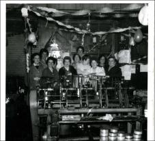 Workers at Thomas Holdsworths Wire Works