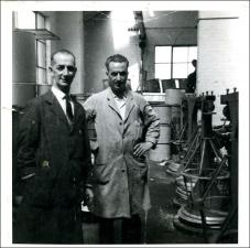 Two workers at Thomas Holdsworth wire works