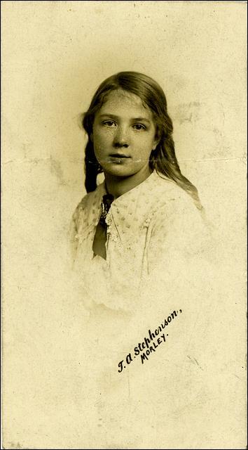 Studio photograph of Maud Irene Furness