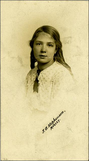 Studio photograph of Maud Irene Furness