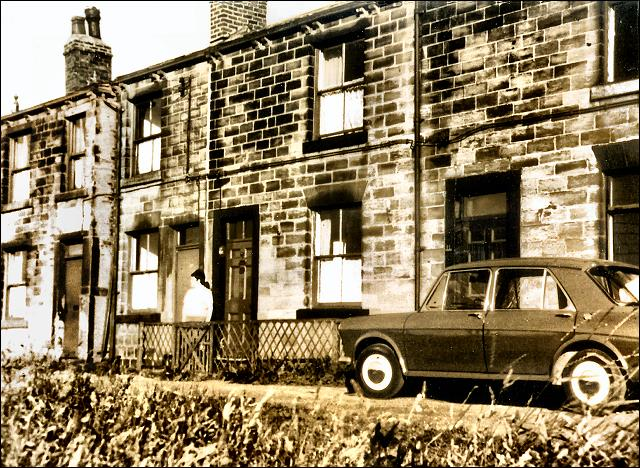 Houses in Moorside Road which are now demolished