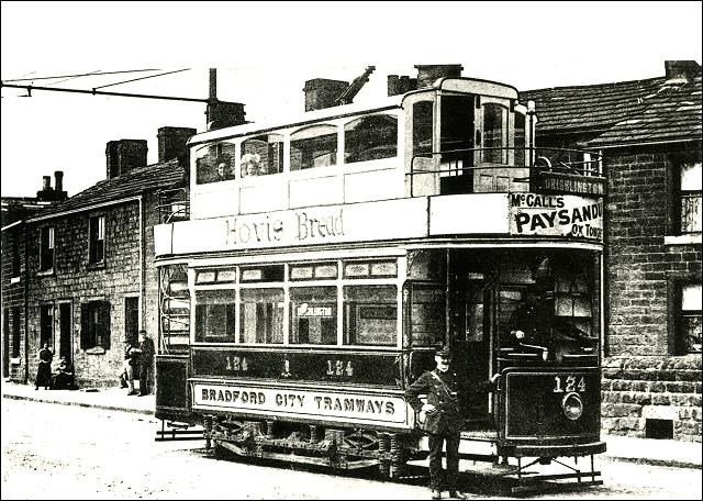 Drighlington terminus car 124 fitted with covered top