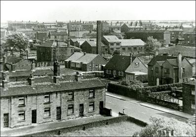 View of Drighlington with King Street in foreground