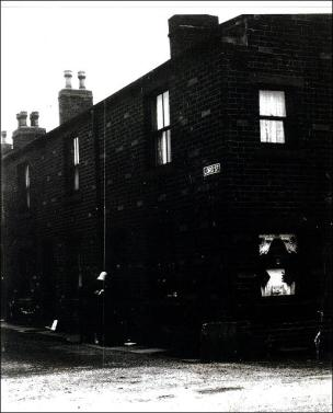The row of houses in Lord Street, Drighlington opposite the railway station