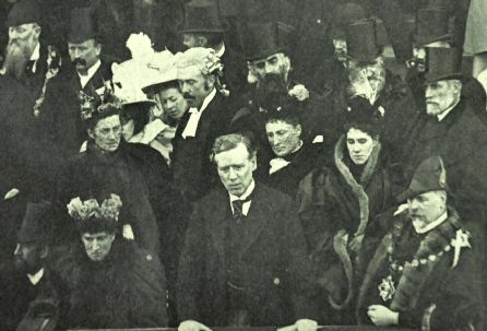 Rt. Hon H.H. Asquith addresses the crowd at the opening of Morley Town Hall