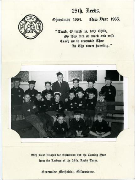 Gildersome Boys Brigade, Christmas Card