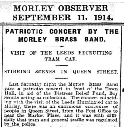 Concert and Recruiting Tram in Morley
