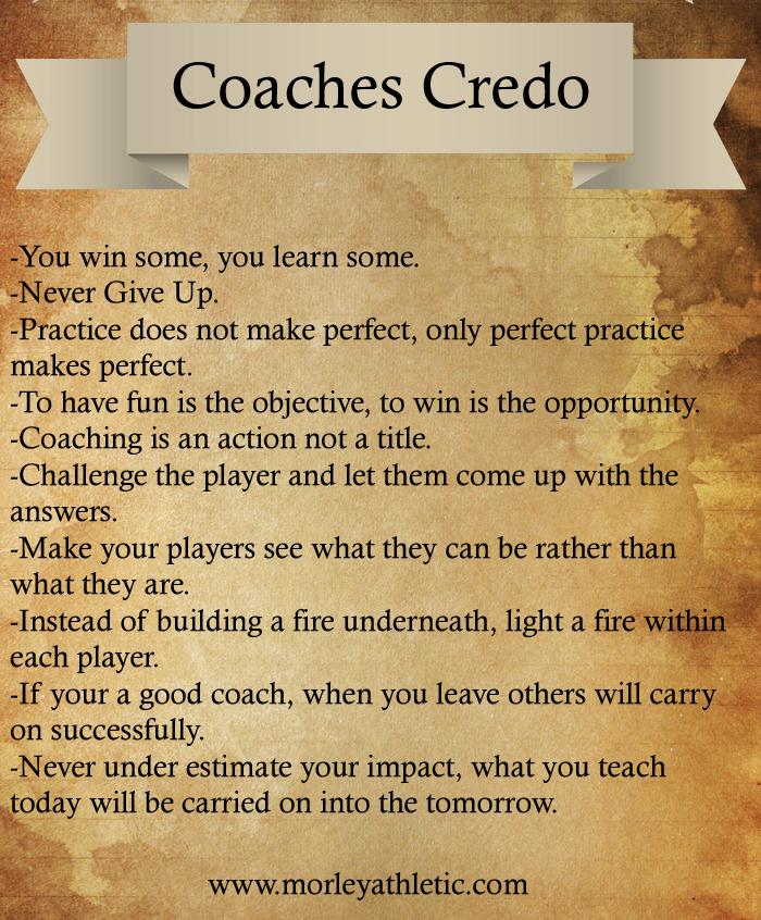 Coaches Credo Team Sports Blog